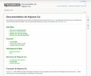 Page d'accueil de notre Base de documentation en ligne sur wiki.kajoom.ca