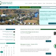 Le nouveau site web de la Municipalité de Saint-Didace
