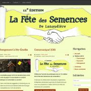 Site web de la 11e édition de la Fête des Semences de Lanaudière.