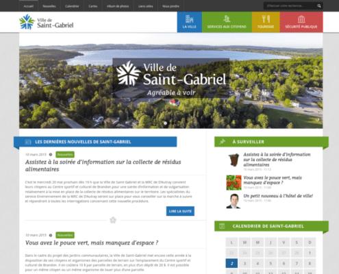 Ville de Saint-Gabriel (Page d'accueil)
