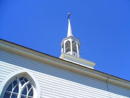 Photo de Saint-Didace - Clocher de l'église.