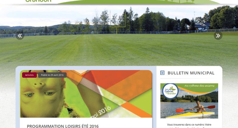 Nouveau site web de la Municipalité de Saint-Gabriel-de-Brandon